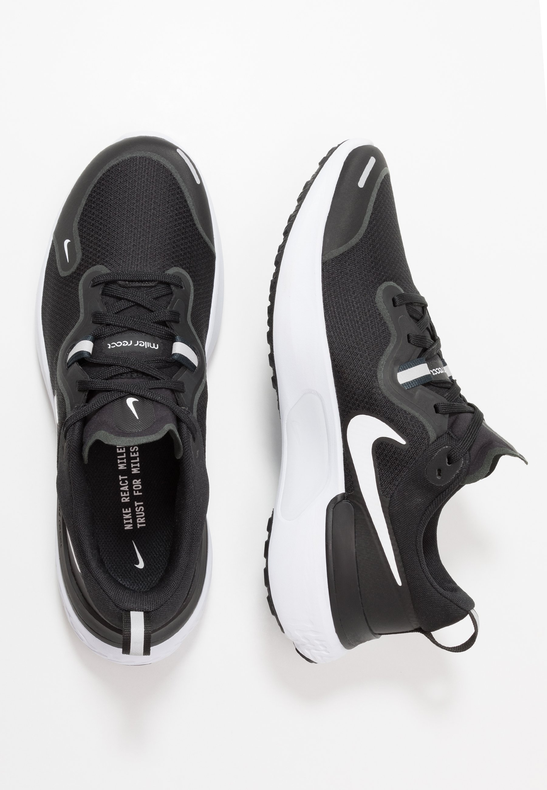 Nike Performance React Miler - Laufschuh Neutral Black/white/dark Grey/anthracite Black Friday
