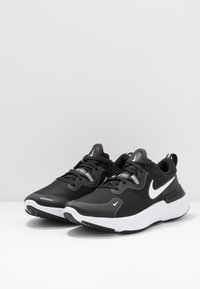 Nike Performance - REACT MILER - Juoksukenkä/neutraalit - black/white/dark grey/anthracite - 2