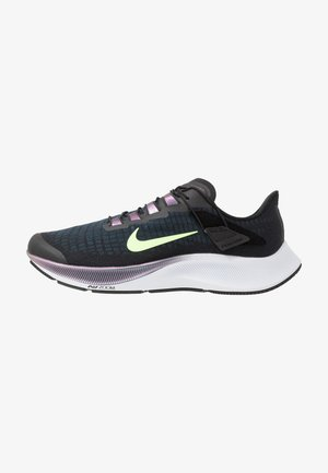AIR ZOOM PEGASUS 37 FLYEASE - Neutral running shoes - black/ghost green/valerian blue