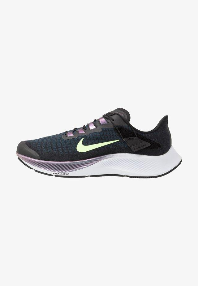 AIR ZOOM PEGASUS 37 FLYEASE - Neutral running shoes - black/ghost green/valerian blue