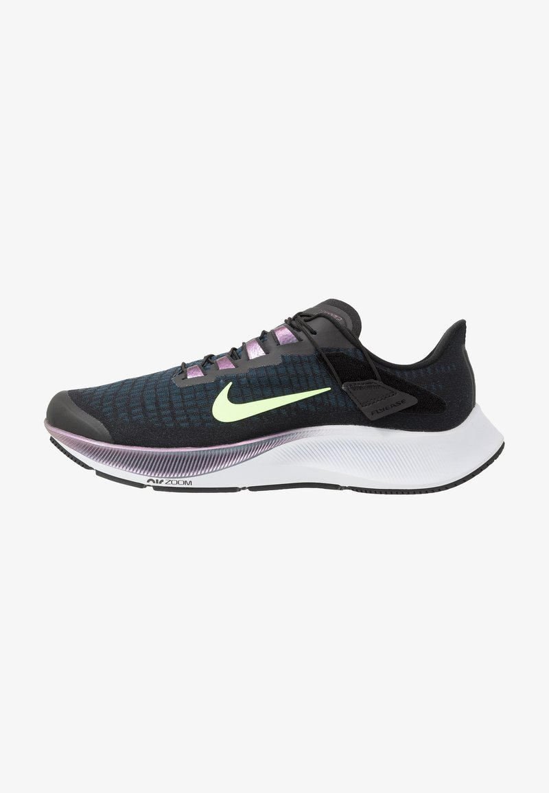 Nike Performance - AIR ZOOM PEGASUS 37 FLYEASE - Zapatillas de running neutras - black/ghost green/valerian blue