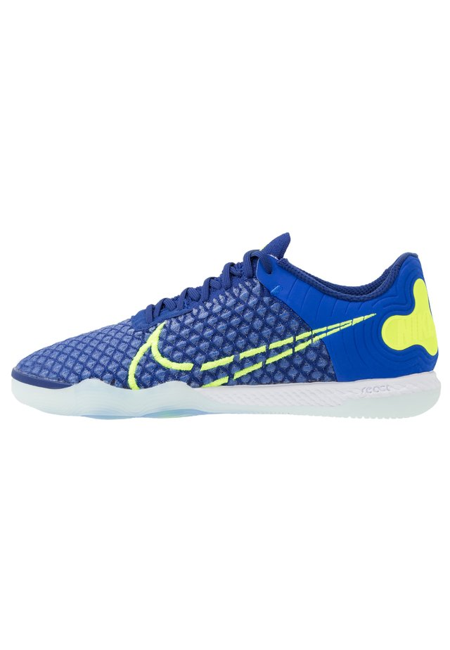 REACTGATO  - Zaalvoetbalschoenen - racer blue/volt/deep royal blue/white