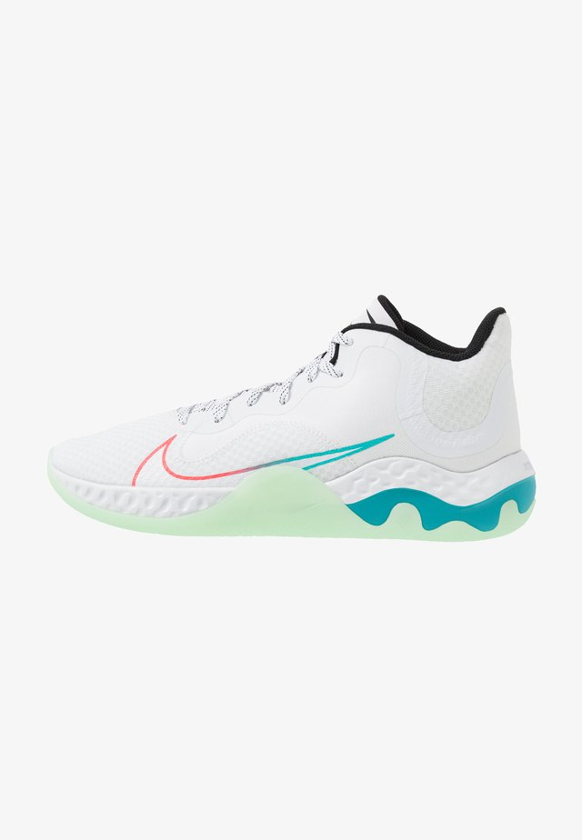 RENEW ELEVATE - Basketbalschoenen - white/black/flash crimson/oracle aqua/vapor green