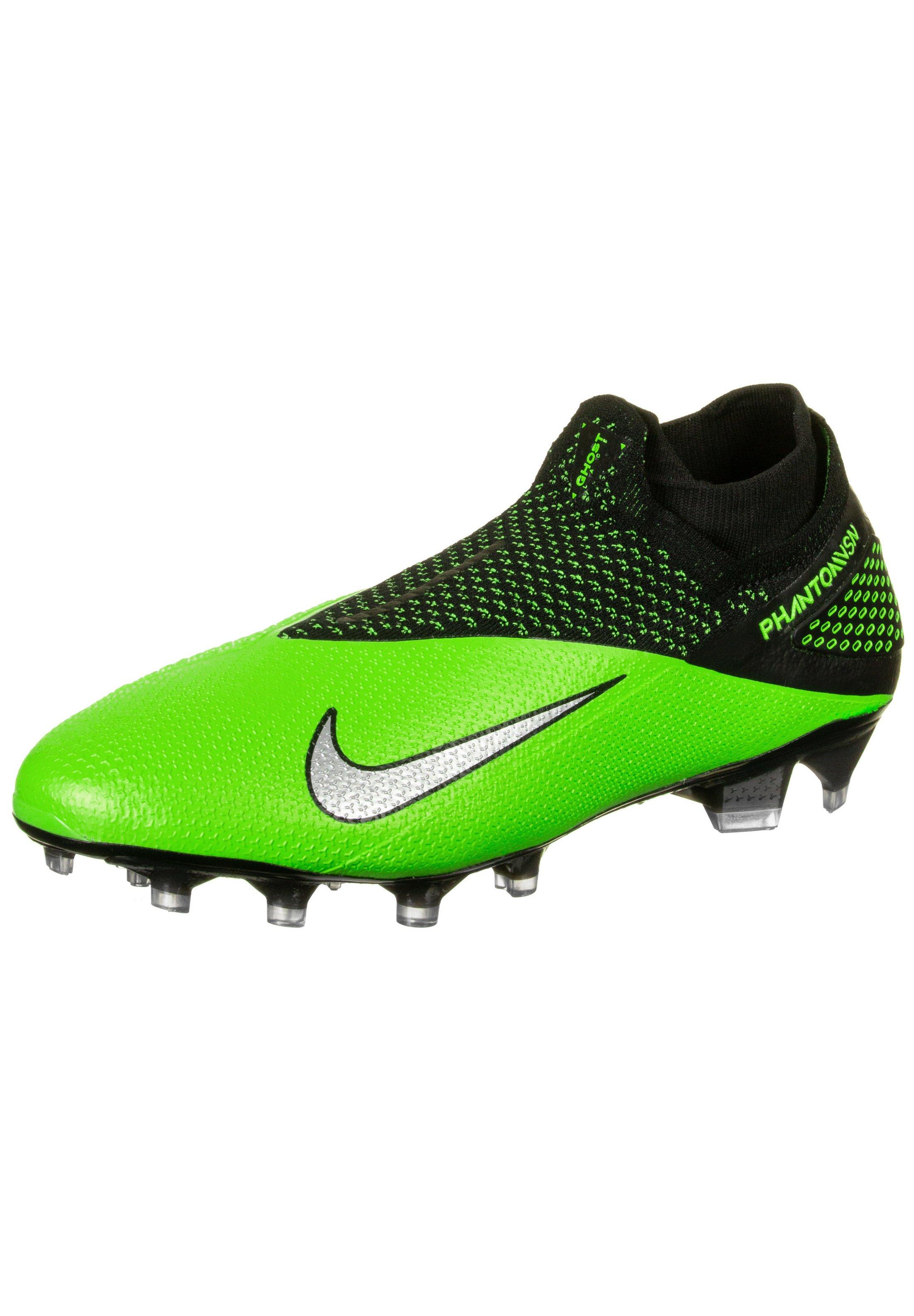 PHANTOM VISION Chaussures de foot à crampons black metallic platinum green strike