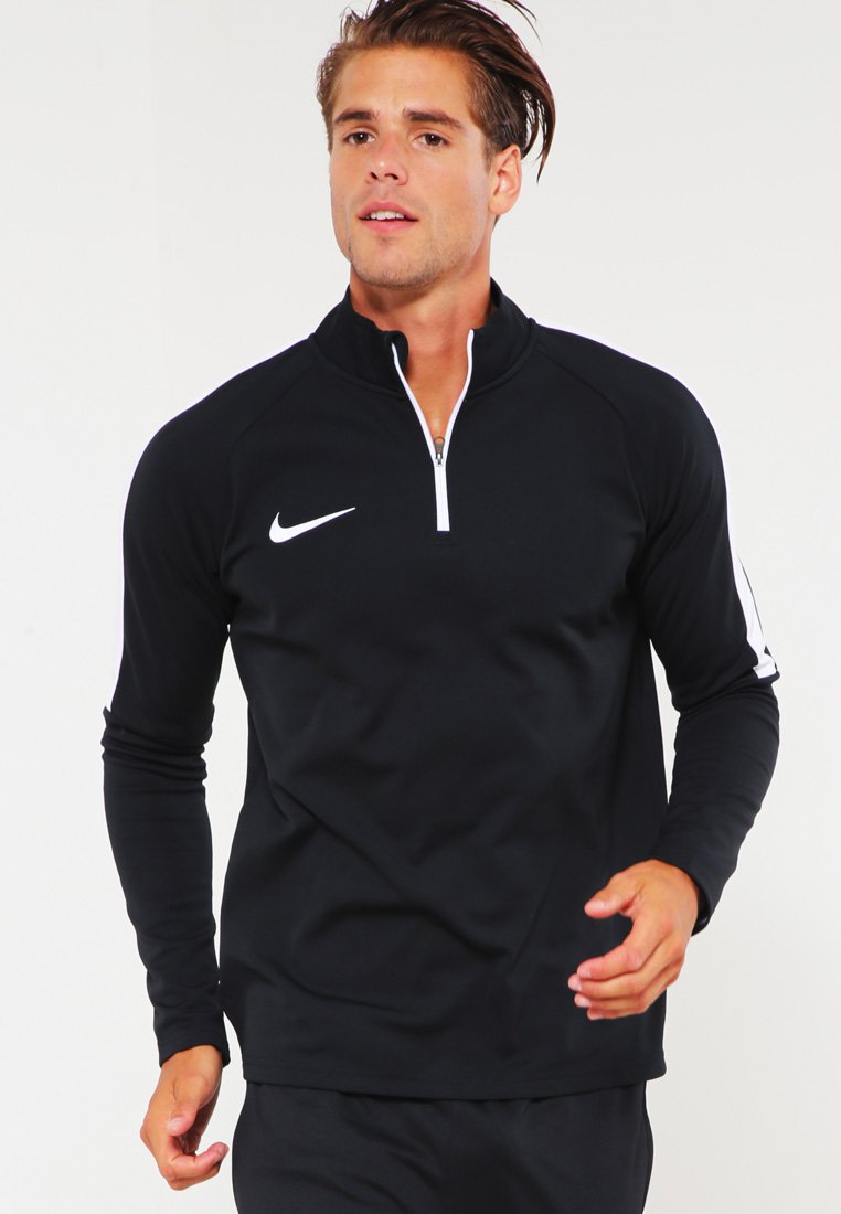 Nike Performance - DRY DRILL ACADEMY - Fleece jumper - black/white