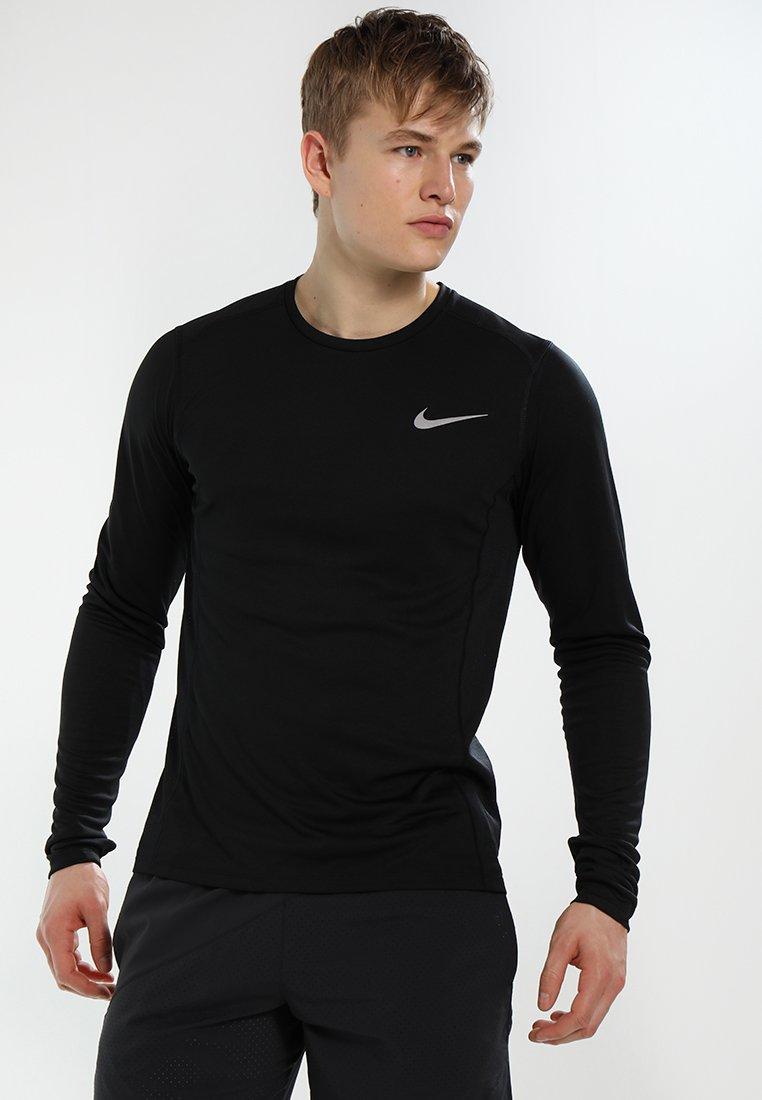 Nike Performance - DRY MILER RUNNING - Sportshirt - black/black/reflective silver
