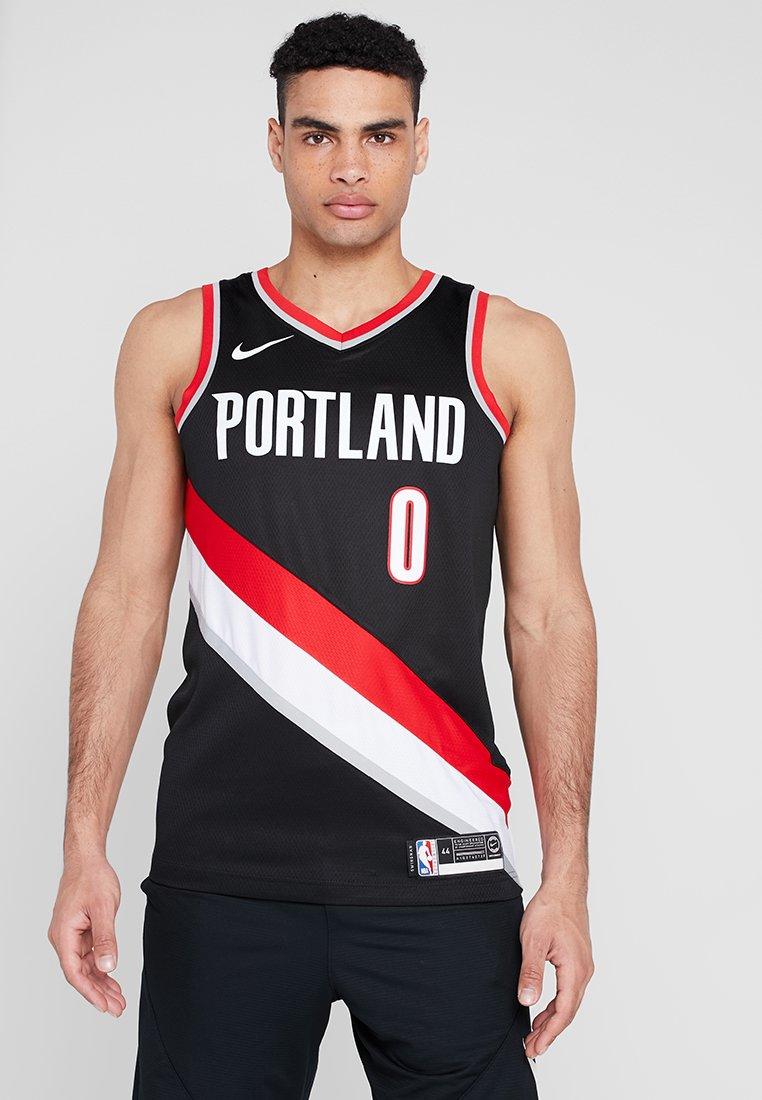 Nike Performance - NBA PORTLAND TRAIL BLAZERS ROAD - Club wear - black/lillard damian