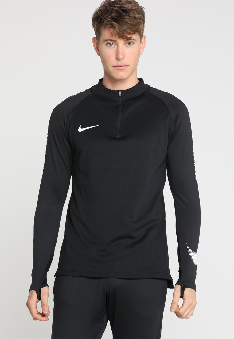 Nike Performance - DRY SQUAD DRILL - Fleecetrøjer - black/white