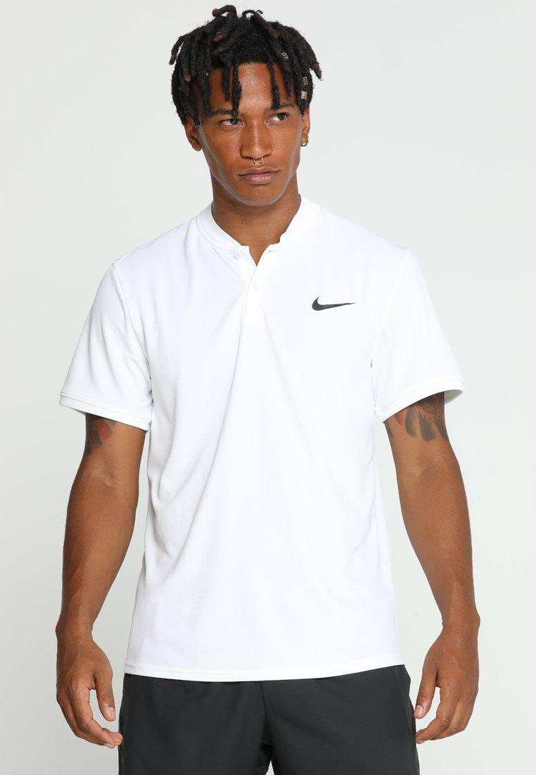Nike Performance - DRY POLO BLADE - Print T-shirt - white/black