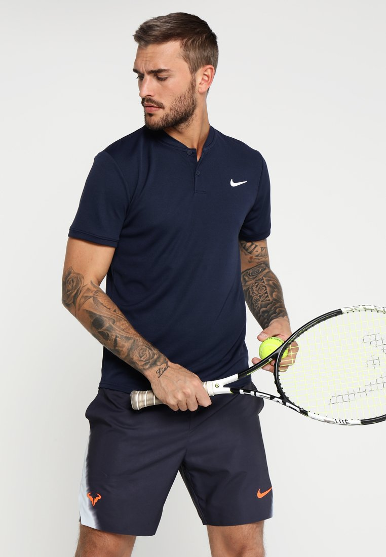 Nike Performance - DRY POLO BLADE - Basic T-shirt - obsidian/white