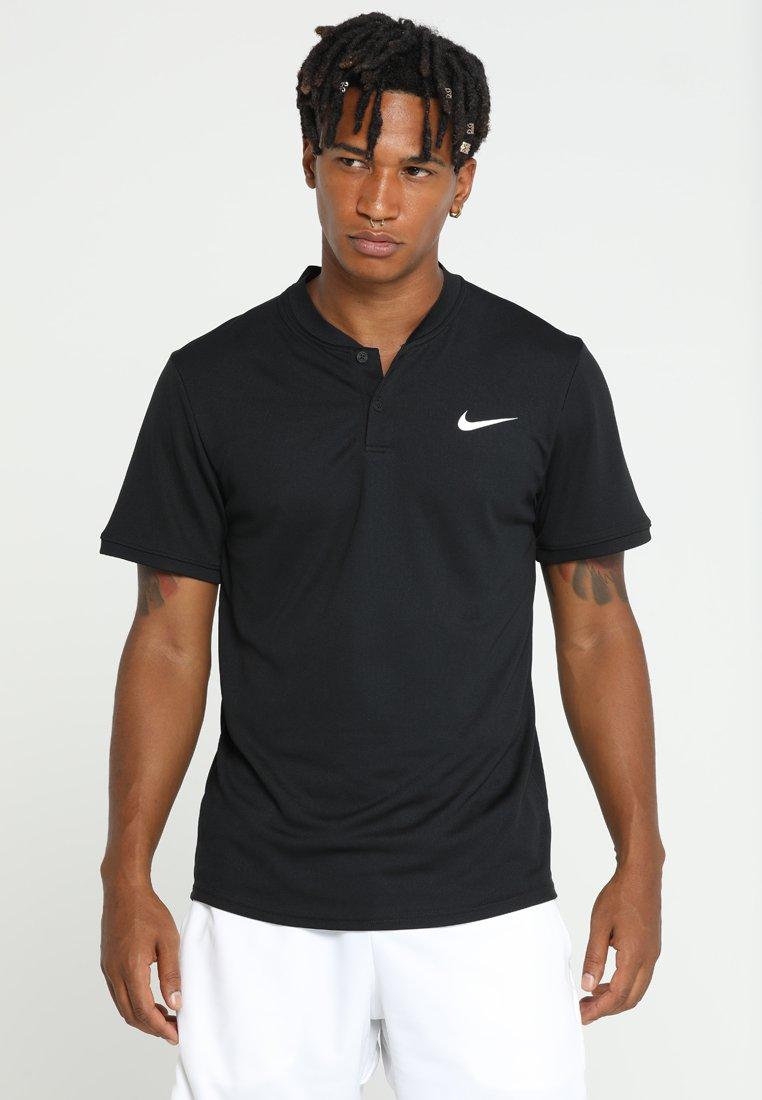 Nike Performance - DRY POLO BLADE - T-shirt imprimé - black/white