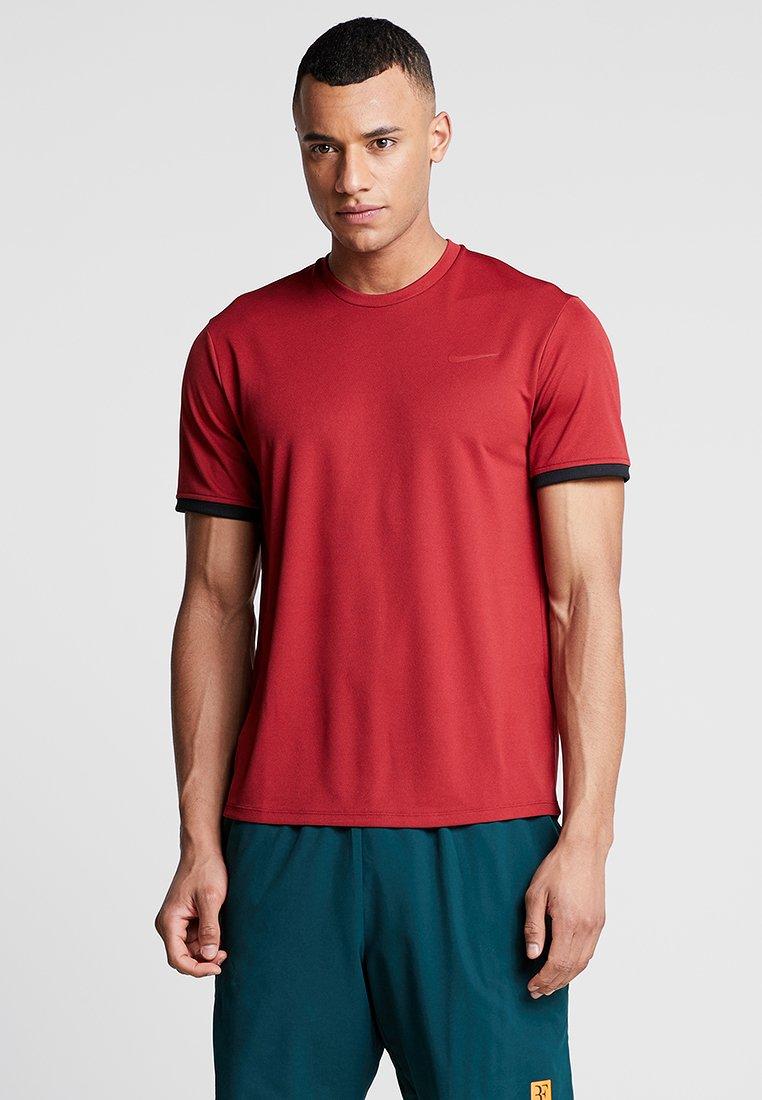 Nike Performance - DRY - Jednoduché triko - team crimson/black