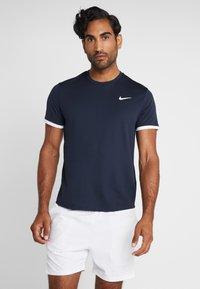 Nike Performance - DRY - Basic T-shirt - obsidian/white - 0