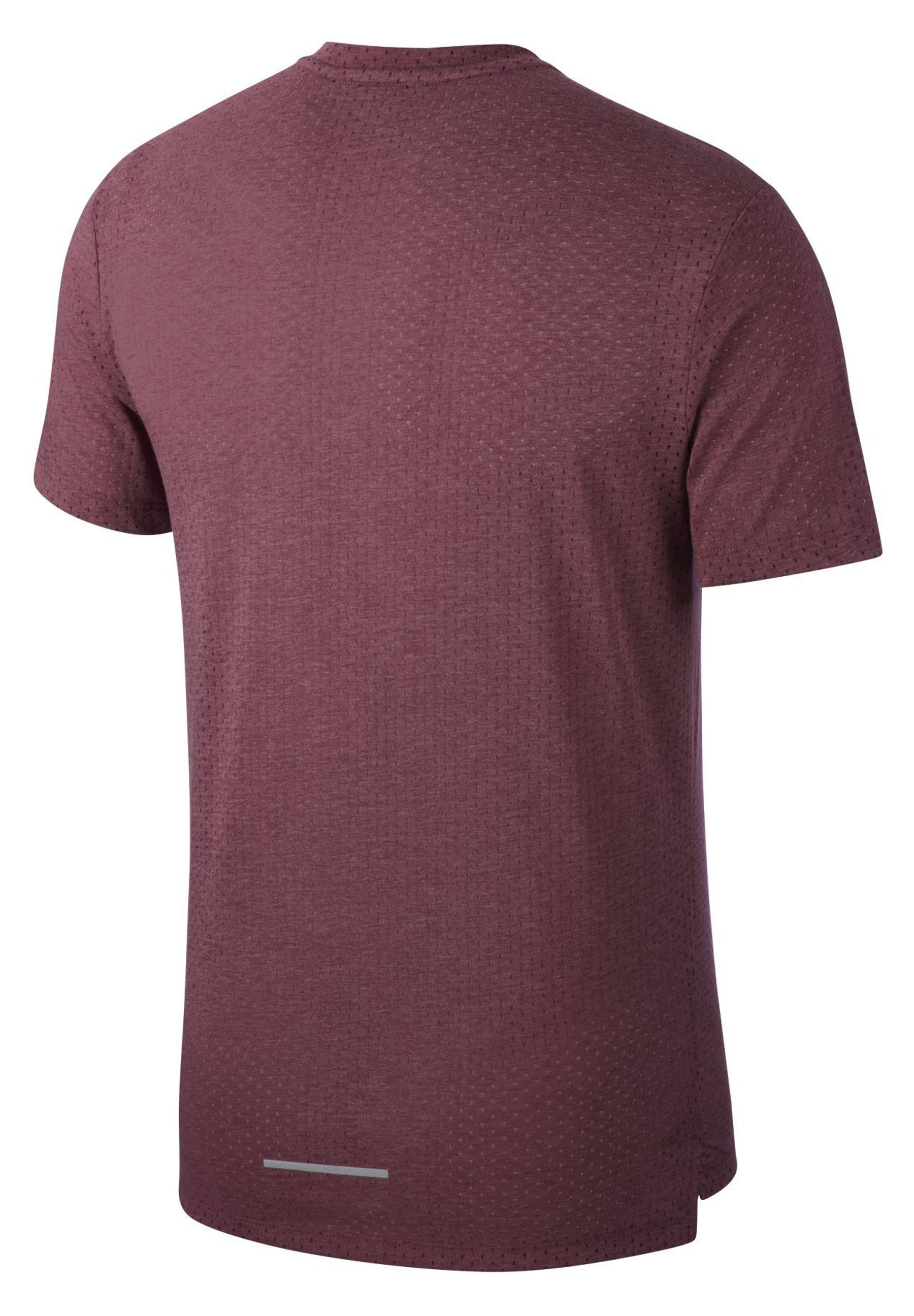 Nike Performance BREATHE RISE - T-shirt con stampa - villain red/heather