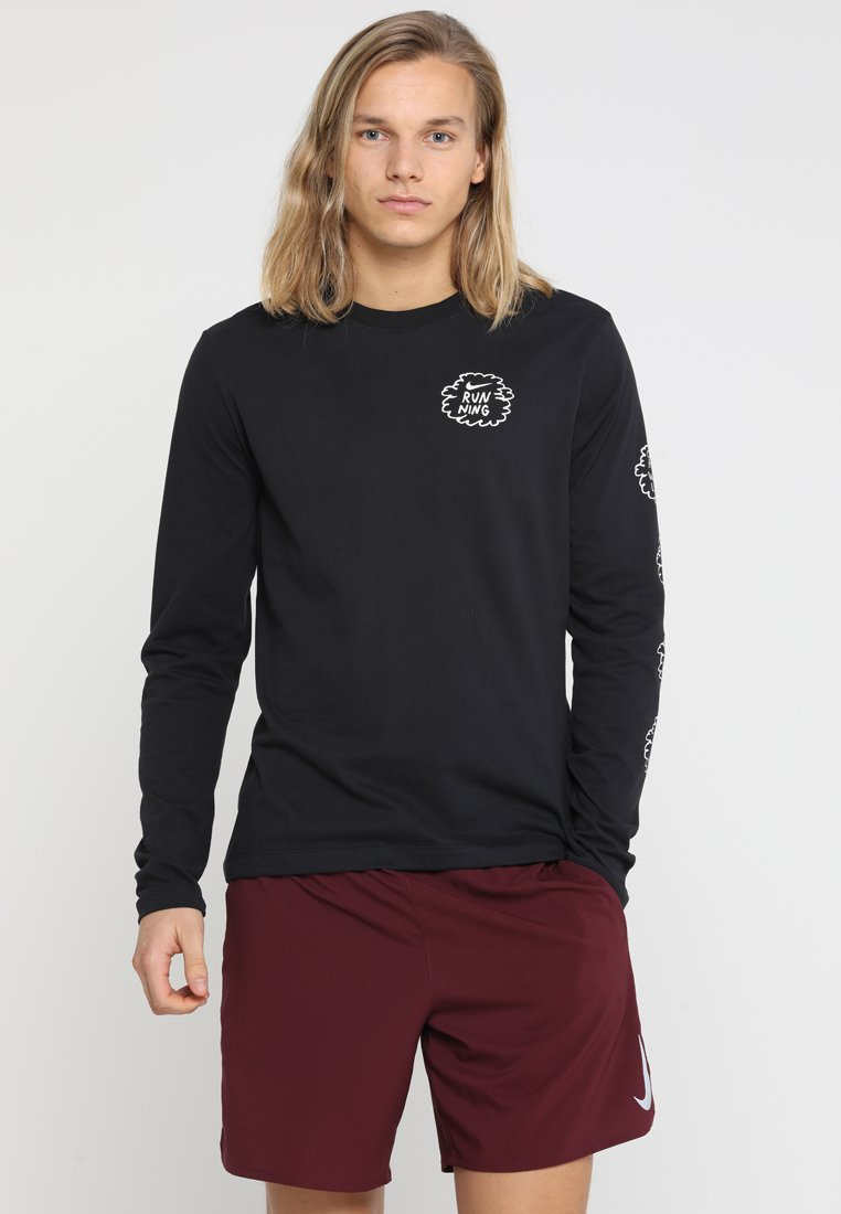 Nike Performance - ARTIST LONG SLEEVES DFC GRAPHIC NATHAN BELL - Sports shirt - black