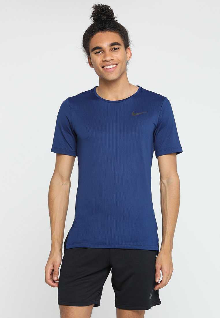 Nike Performance - DRY SLIM - Basic T-shirt - blue void/black