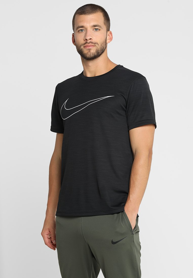 Nike Performance - SUPERSET - T-shirt print - black/white