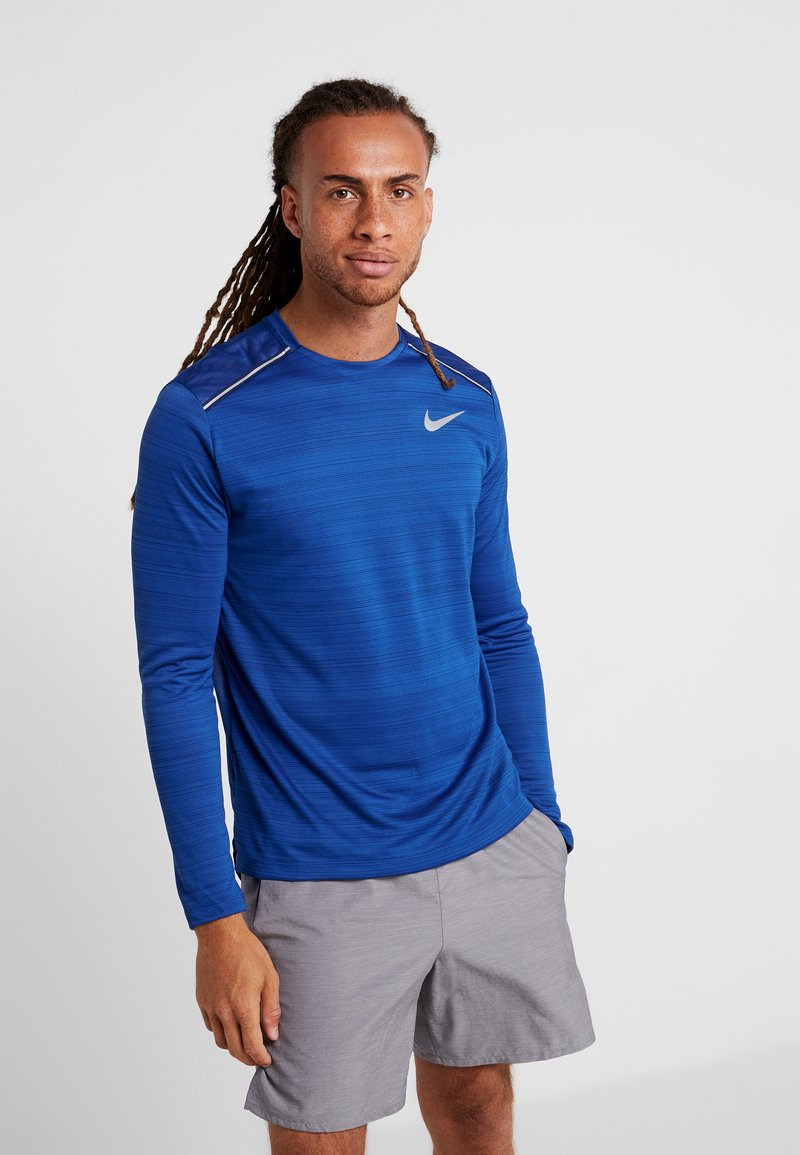Nike Performance - DRY MILER - Camiseta de deporte - indigo force/blue void/reflective silver