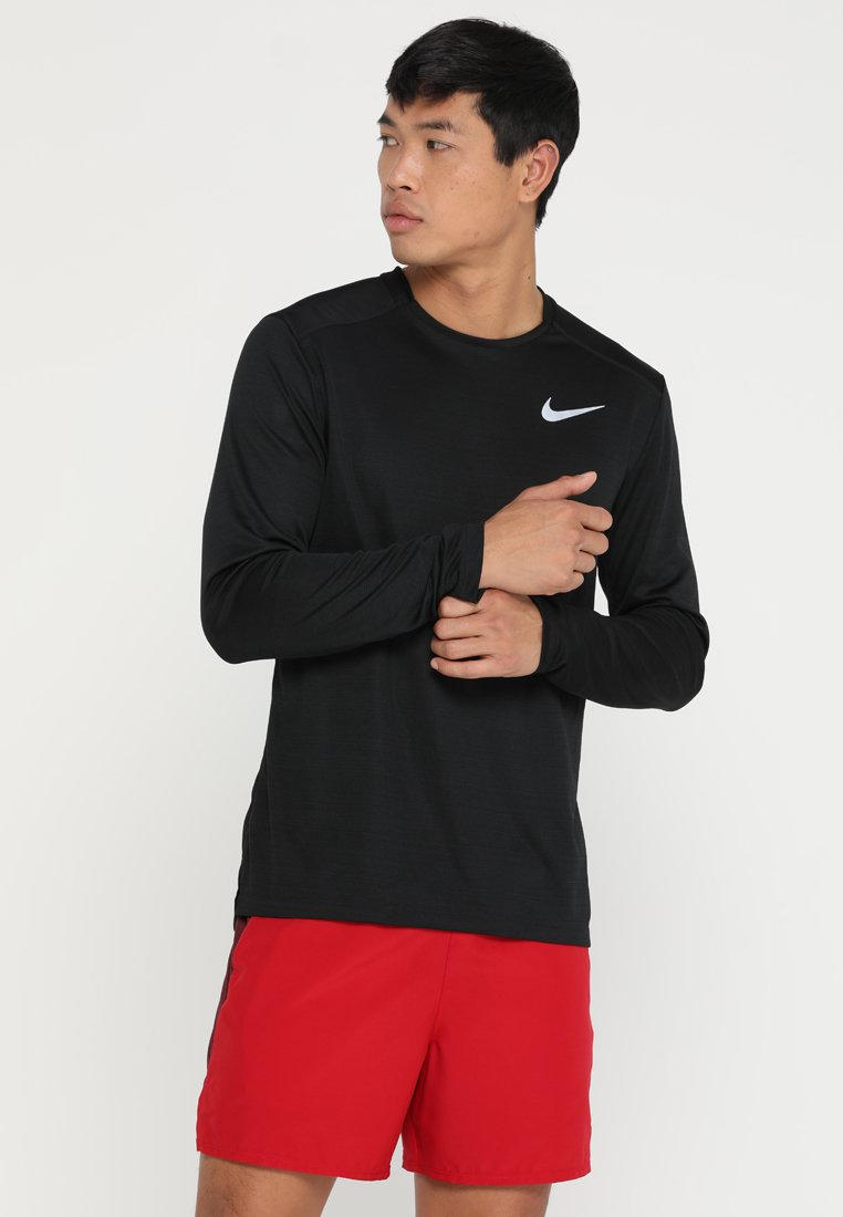 Nike Performance - DRY MILER - Sportshirt - black/silver