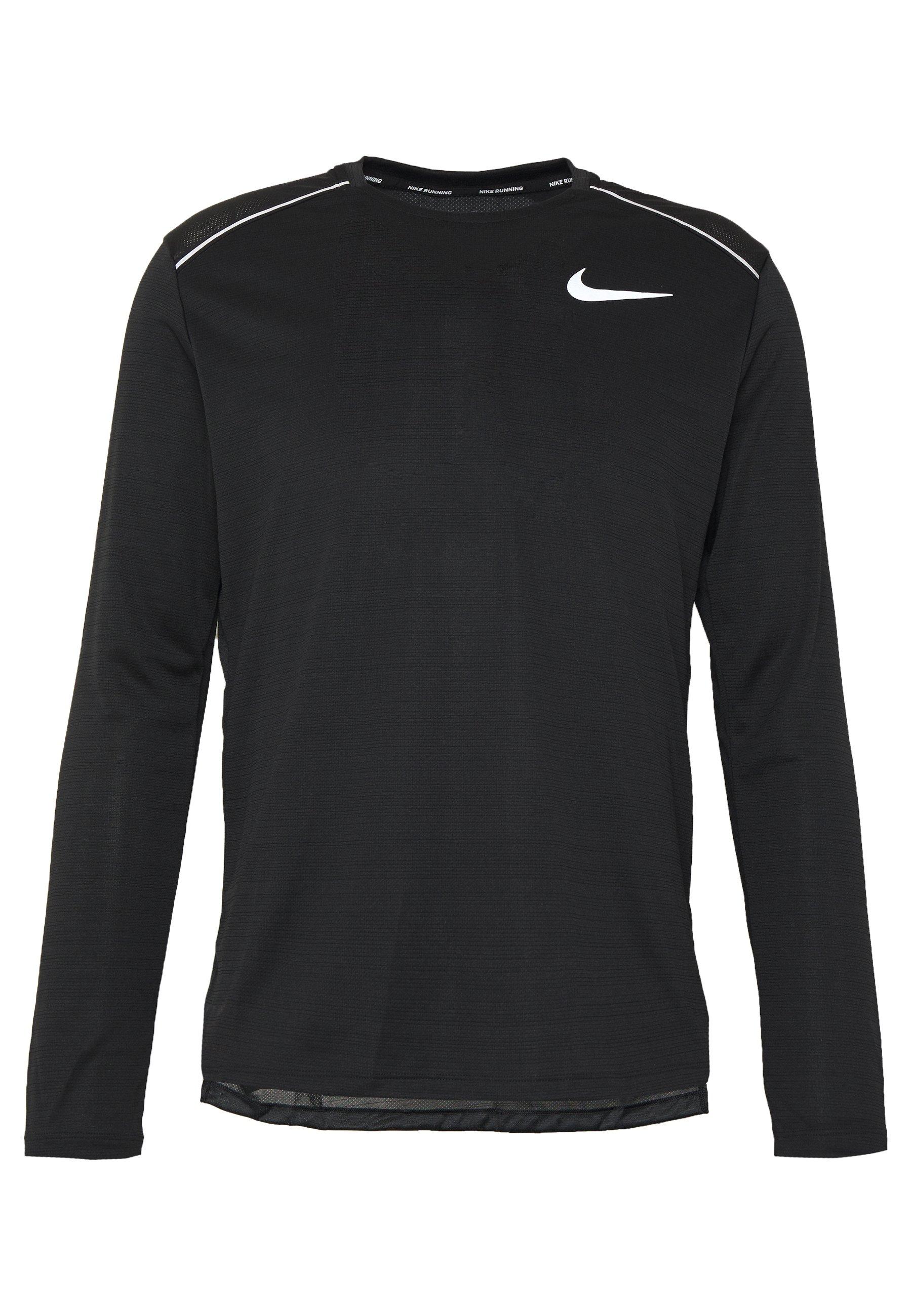 Nike Performance DRY MILER - T-shirt de sport - black/silver