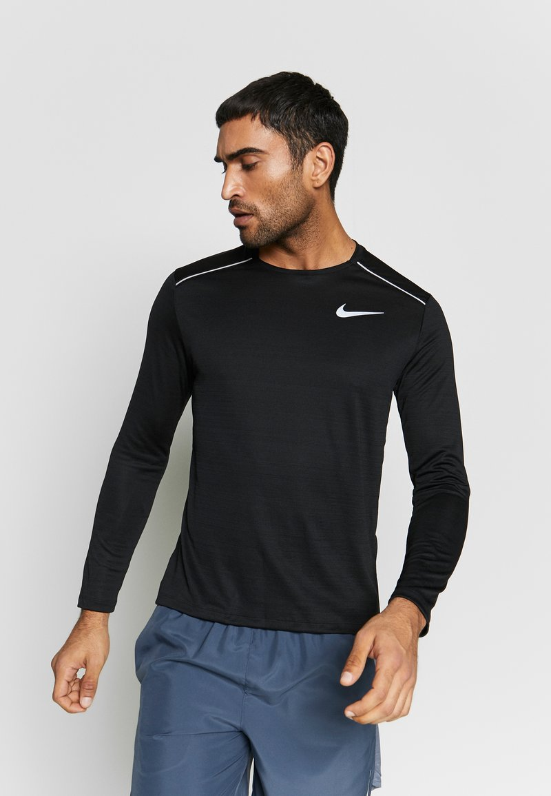 Nike Performance - DRY MILER - Funktionströja - black/silver