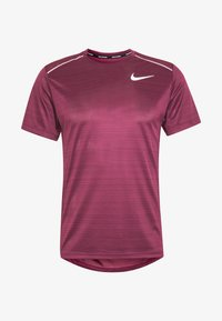 Nike Performance - DRY MILER - Print T-shirt - villain red/silver - 4