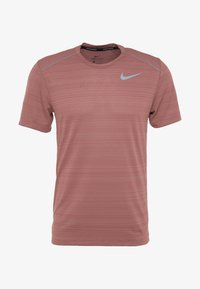Nike Performance - DRY MILER - Print T-shirt - light redwood/heather/silver - 5