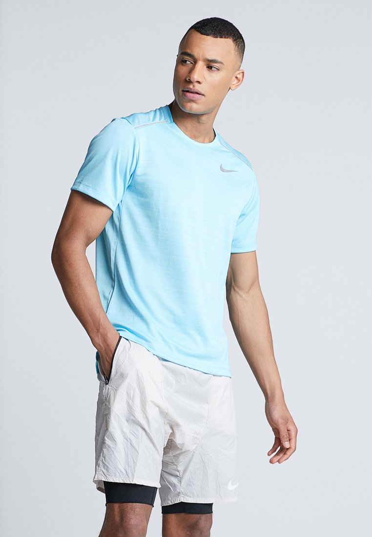 Nike Performance - DRY MILER - T-shirt con stampa - blue gaze/silver