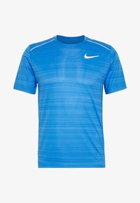 Nike Performance - DRY MILER - Print T-shirt - pacific blue/heather/silver - 4