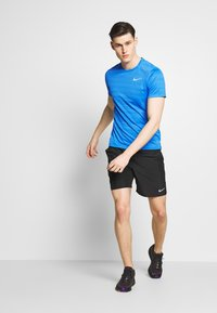 Nike Performance - DRY MILER - Print T-shirt - pacific blue/heather/silver - 1