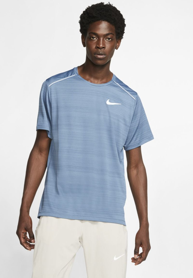 Nike Performance - DRY MILER - Print T-shirt - dark blue