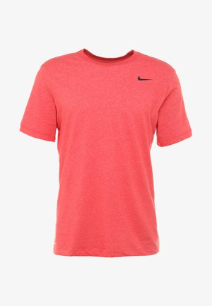 DRY TEE CREW SOLID - Camiseta básica - light university red heather/black