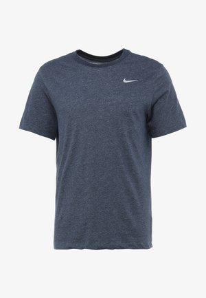 DRY TEE CREW SOLID - T-shirts - obsidian heather