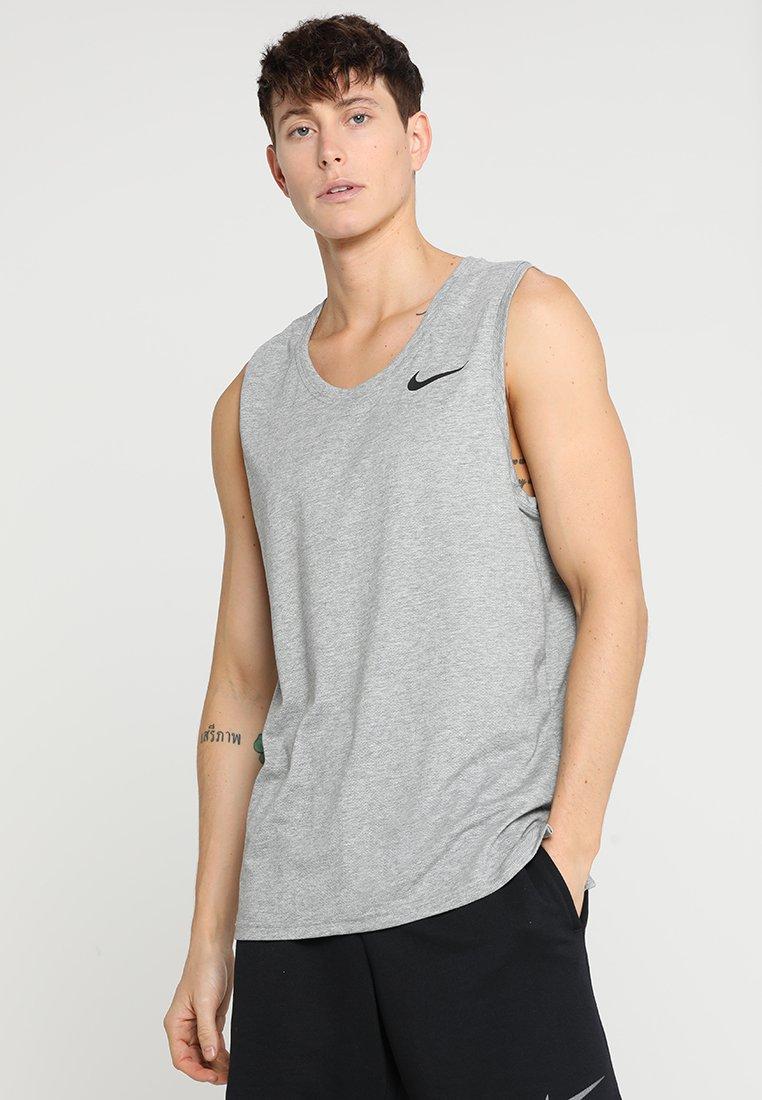 Nike Performance - TANK HYPERDRY - Camiseta de deporte - dark grey heather/black