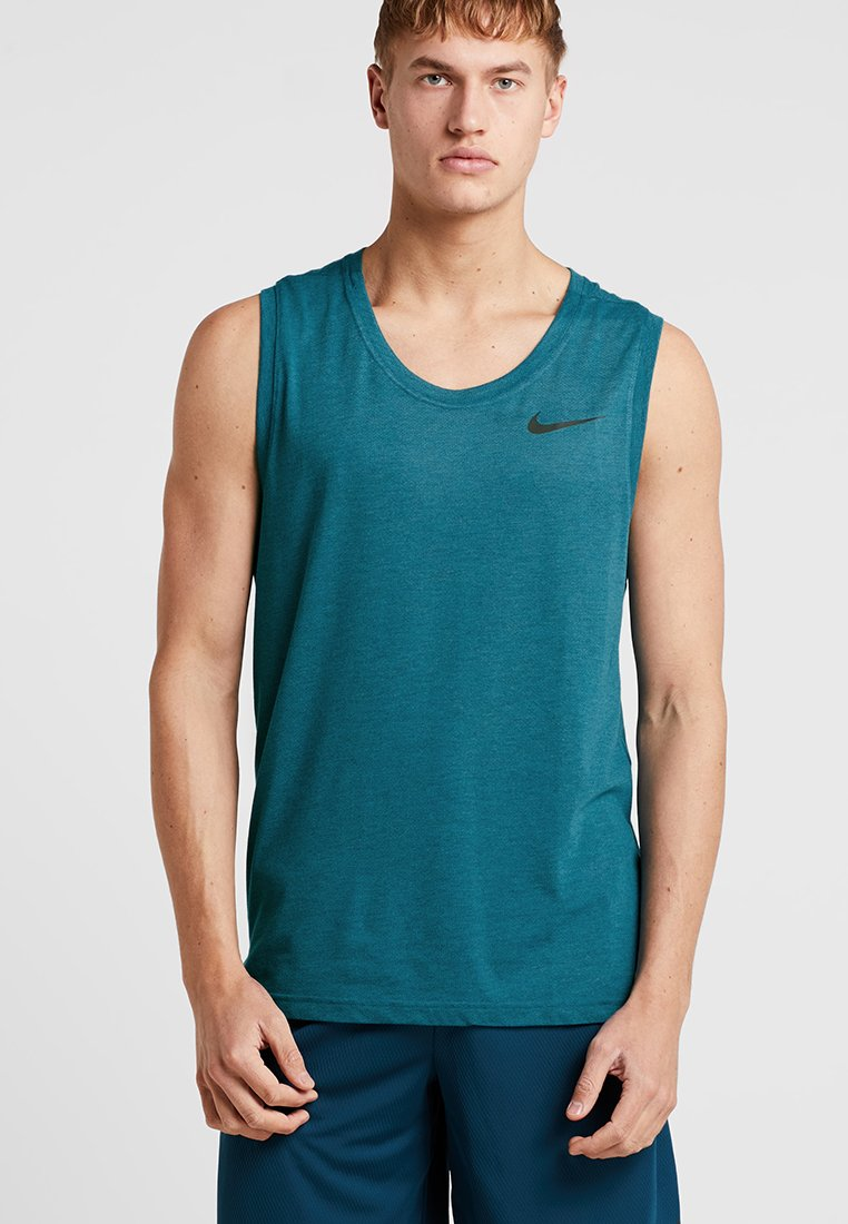 Nike Performance - TANK HYPERDRY - Sports shirt - green abyss/heather/black