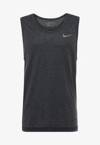 Nike Performance - TANK HYPERDRY - Sportshirt - black heather/metallic hematite - 4