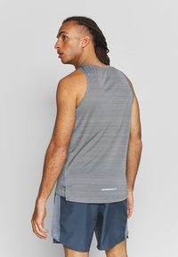 Nike Performance - DRY MILER TANK - Sports shirt - smoke grey/reflective silver - 2