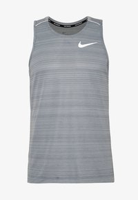 Nike Performance - DRY MILER TANK - Sports shirt - smoke grey/reflective silver - 3