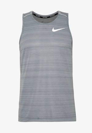 DRY MILER TANK - Sports shirt - smoke grey/reflective silver