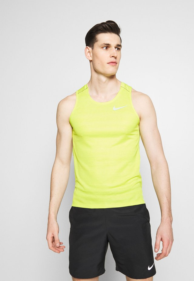 DRY MILER TANK - T-shirt sportiva - limelight/heather/silver