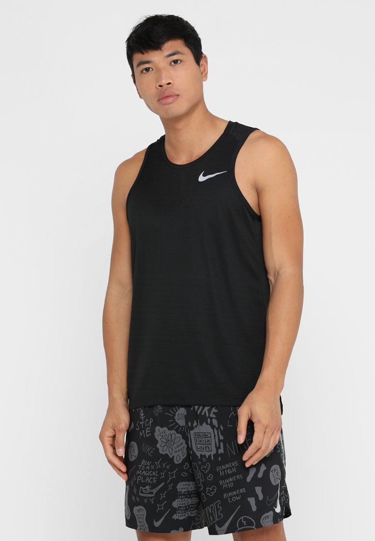 Nike Performance - DRY MILER TANK - Funktionsshirt - black/black/reflective silver