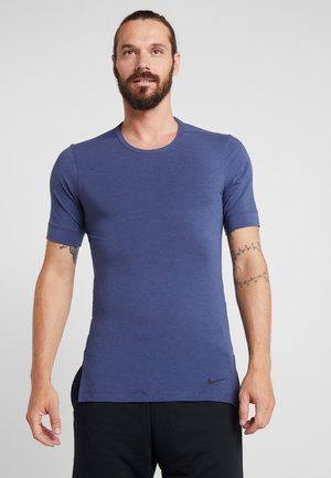 DRY TOP SS TRANSCEND YOGA - Camiseta básica - midnight navy/sanded purple/black