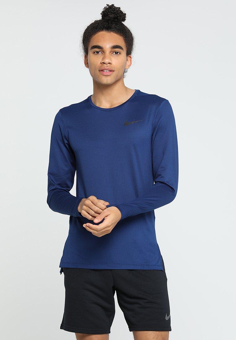 Nike Performance - DRY SLIM - Koszulka sportowa - blue void/black