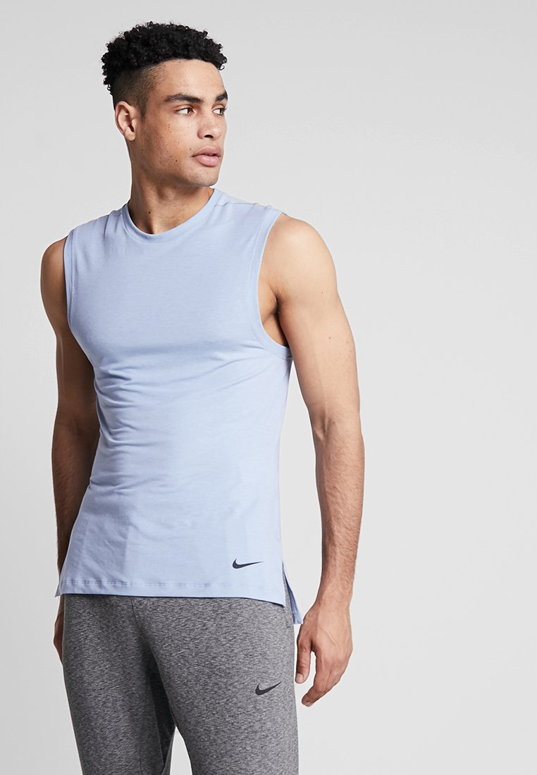 Nike Performance - TRANSCEND - Sports shirt - indigo fog/light armory blue/black