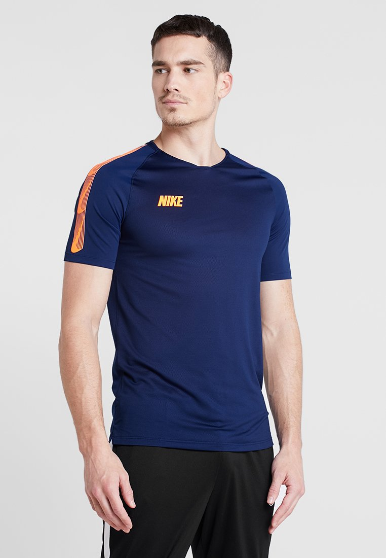 Nike Performance - T-Shirt print - blue void/total orange