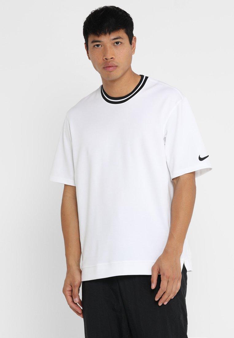 Nike Performance - DRY HOOP FLY - Camiseta estampada - white/black