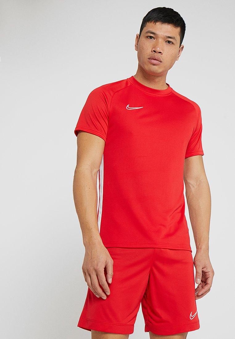 Nike Performance - DRY ACDMY  - Print T-shirt - university red/white