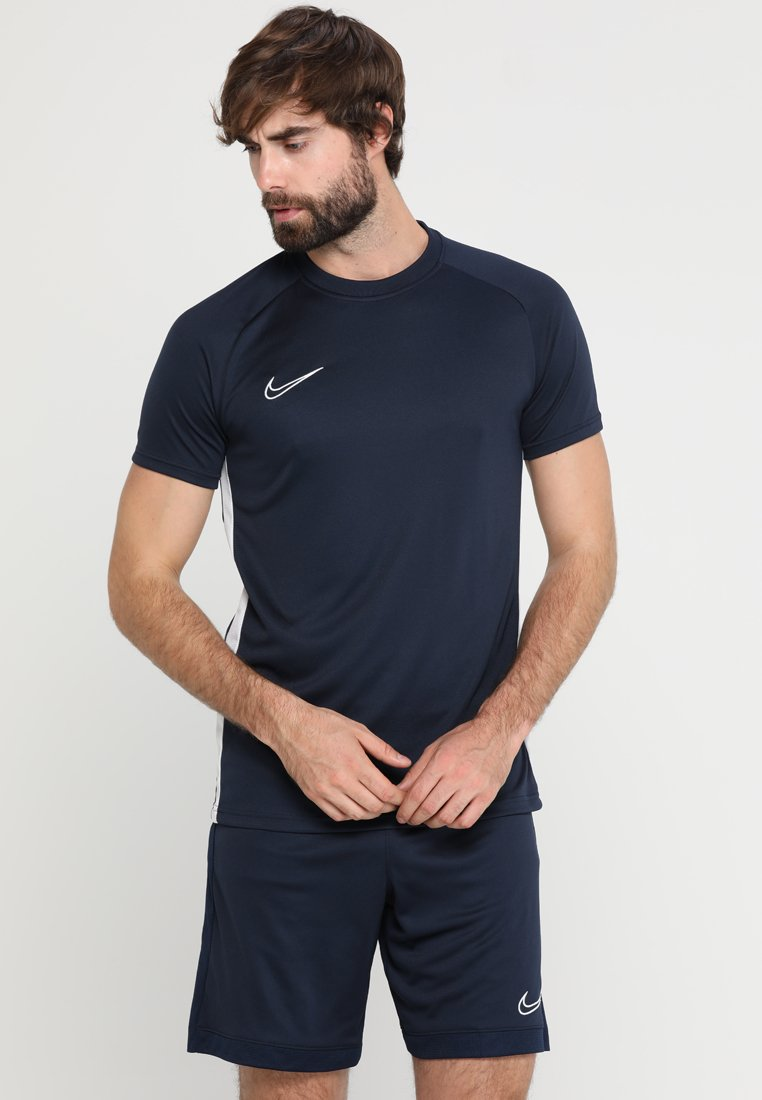 Nike Performance - DRY ACDMY  - Print T-shirt - obsidian/white