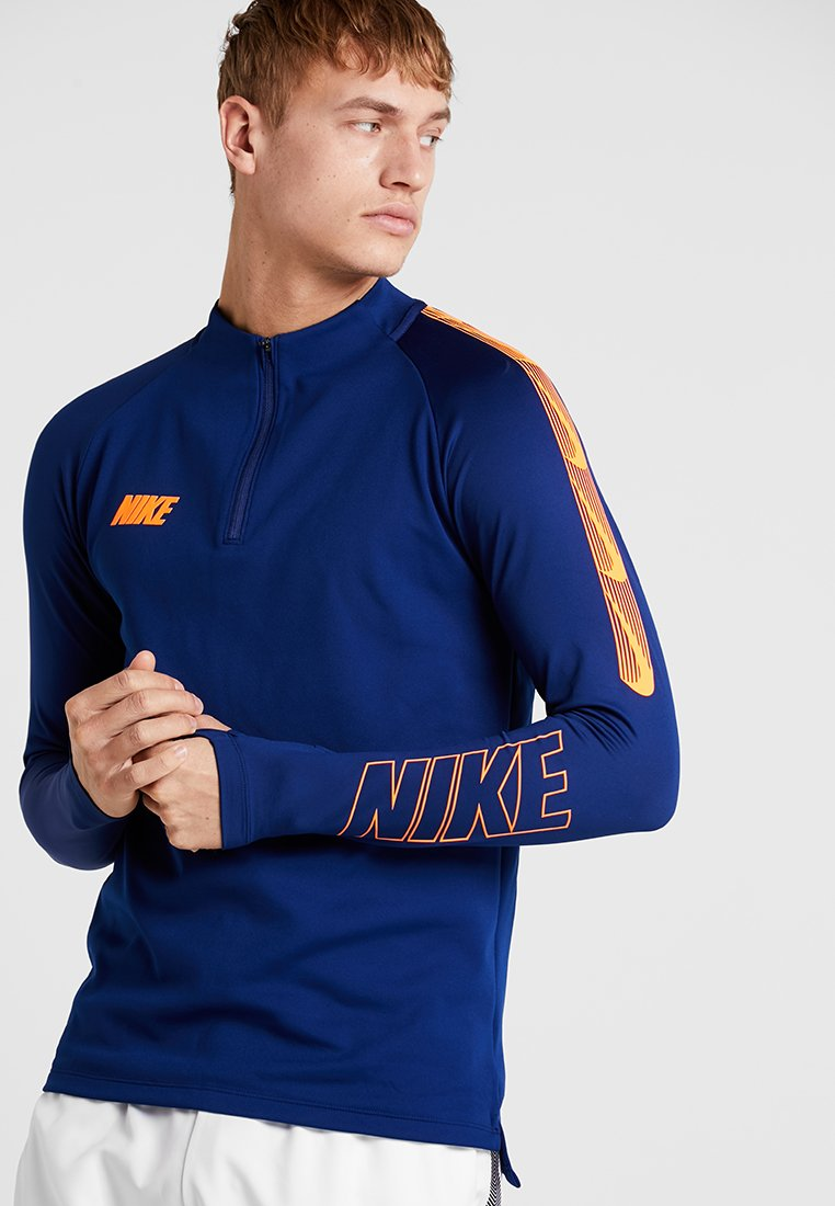 Nike Performance - DRY DRIL - Sports shirt - blue void/total orange