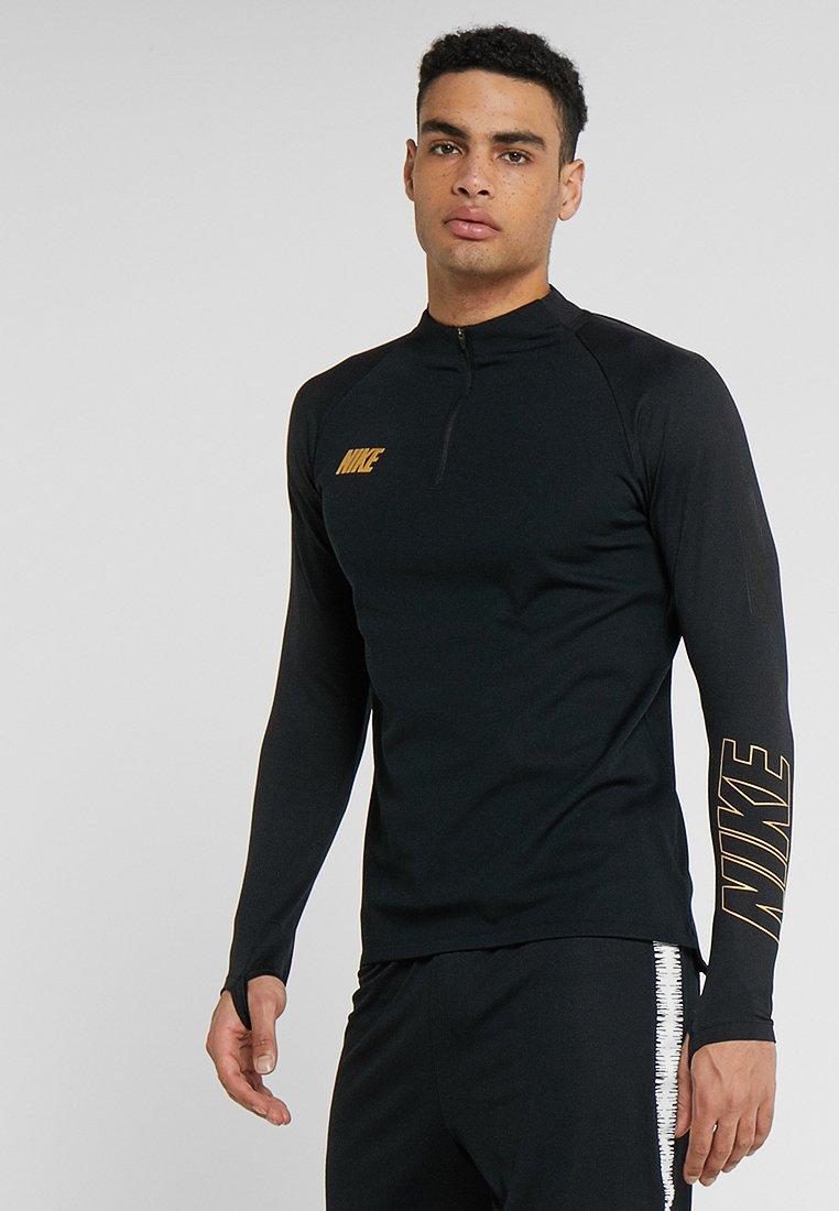 Nike Performance - DRY DRIL - Funktionstrøjer - black/metallic gold